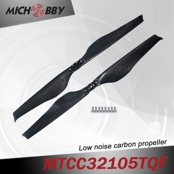 Maytech Low noise MTCC32105TQF 32inch carbon fiber balsa wood Composite propeller for agricultural drones aerial photography