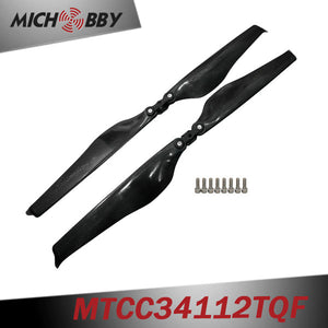 In Stock! Maytech Low noise MTCC34112TQF 34inch carbon fiber balsa wood Composite propeller for agricultural drones aerial photography