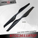 Maytech Low noise MTCC36118TQF 36inch carbon fiber balsa wood Composite propeller for agricultural drones aerial photography