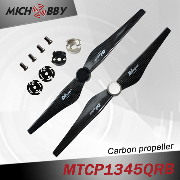 MTCP1345QRB Quick Release Carbon Fiber Prop for DJI Inspire 1 13x4.5 inch in Pairs Done/Multi-copter