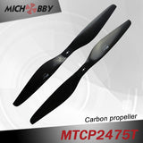 Carbon fiber propeller 24.0x7.5inch for aerial photography uav