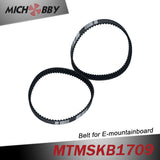 2pcs Electric skateboard longboard mountainboard belts HTD395-5M belt