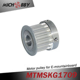 2pcs Electric skateboard longboard mountainboard motor pulley HTD-5M 16T aluminium pulley for 10mm motor shaft