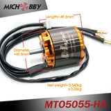 5055 70/220KV Brushless Outrunner Sensored Motor Open Cover for Esk8/Robotics