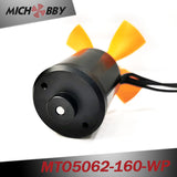 Outrunner fully waterproof bldc motor 5062 160KV with propeller for Electric Boat