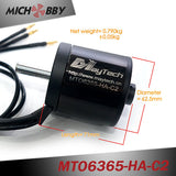 Maytech 6365 170KV brushless outrunner motor waterproof 10mm shaft for electric skateboard robots