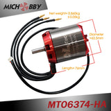 In Stock! MTO6374-170-HA/MTO6374-190-HA Maytech Sensored 6374 170KV 190KV Brushless DC Motor