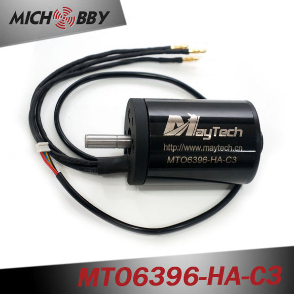 In Stock! Maytech 6396 140KV 170KV 190KV 210KV Brushless Outrunner Sensored Motor for Electric Skateboard/Fighting Robots 10mm Shaft