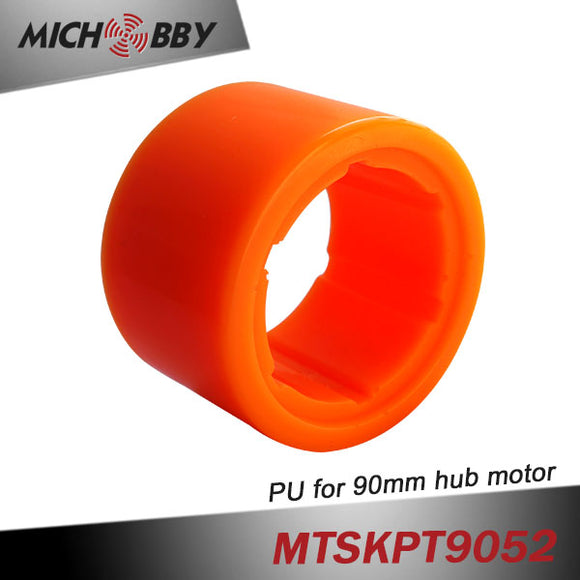 Maytech 90mm PU tire rubber wheels for hub motors electric skateboard 90mm hub motor MTO9055HBM-100-HA