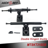Double kingpin truck Dual 5065 sensored motors Superfoc 50A VESC6 based ESC Remote electric skateboard longboard kit