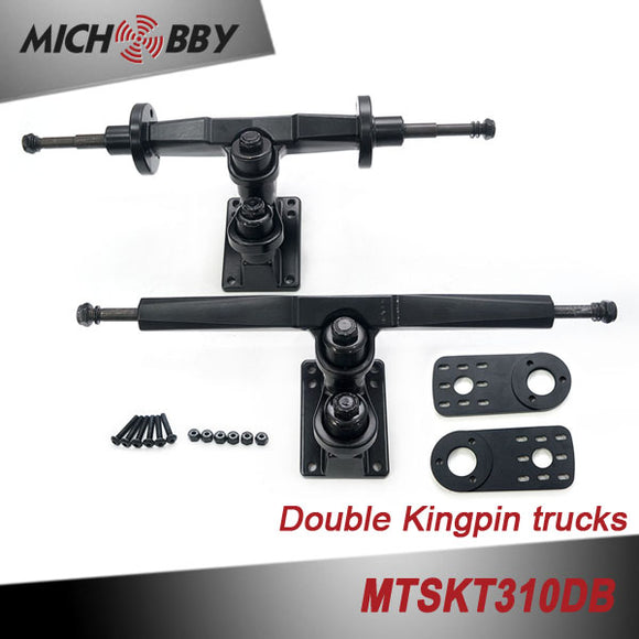 In Stock! Double kingpin trucks Dual belt driven electric skateboard truck MTSKT310DB for DIY electric longboard