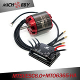 (Motor+ESC) Robot kit electric skateboard kit MTSVESC6.0 200A VESC based ESC and brushless Red cover motor (non-sealed motor)