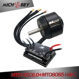 (Motor+ESC) Robot kit electric skateboard kit MTSVESC6.0 200A VESC based ESC and brushless black sealed motor (battle-hardened)