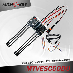 Maytech electric boosted skateboard double Super Esc based on Vesc 50A with good Foc function