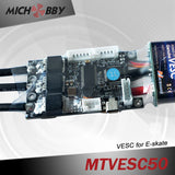 Maytech 5065 170kv motor with black closed cover and 50A Vesc based controller for eskate