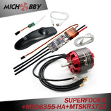 (Motor+ESC+Remote) Electric skateboard longboard kit SUPERFOC6.8 based on VESC6 Speed Controller 50A and Brushless Red cover motor (non-sealed motor) and Remote