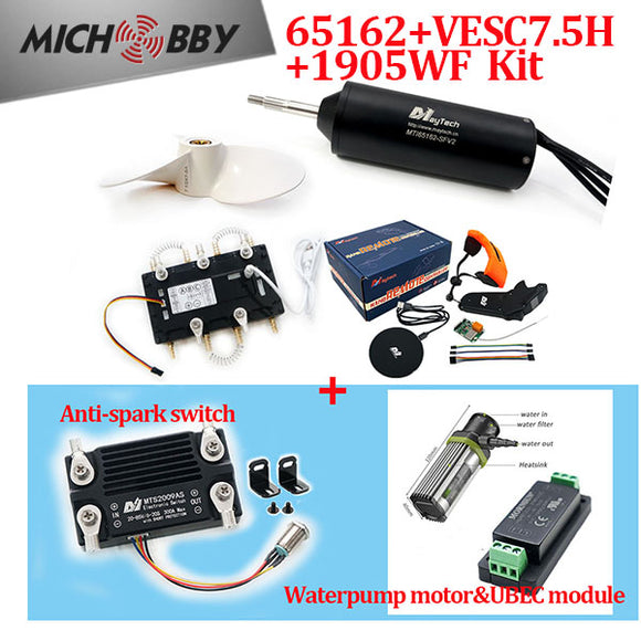 Maytech Efoil Kits 65162 Waterproof Motor + Watercooled 300A VESC based ESC + V2 Remote