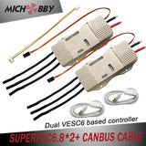 Maytech 2pcs/set double VESC6 based controller SUPERFOC6.8 50A for Electric Skateboard Mountainboard Robot