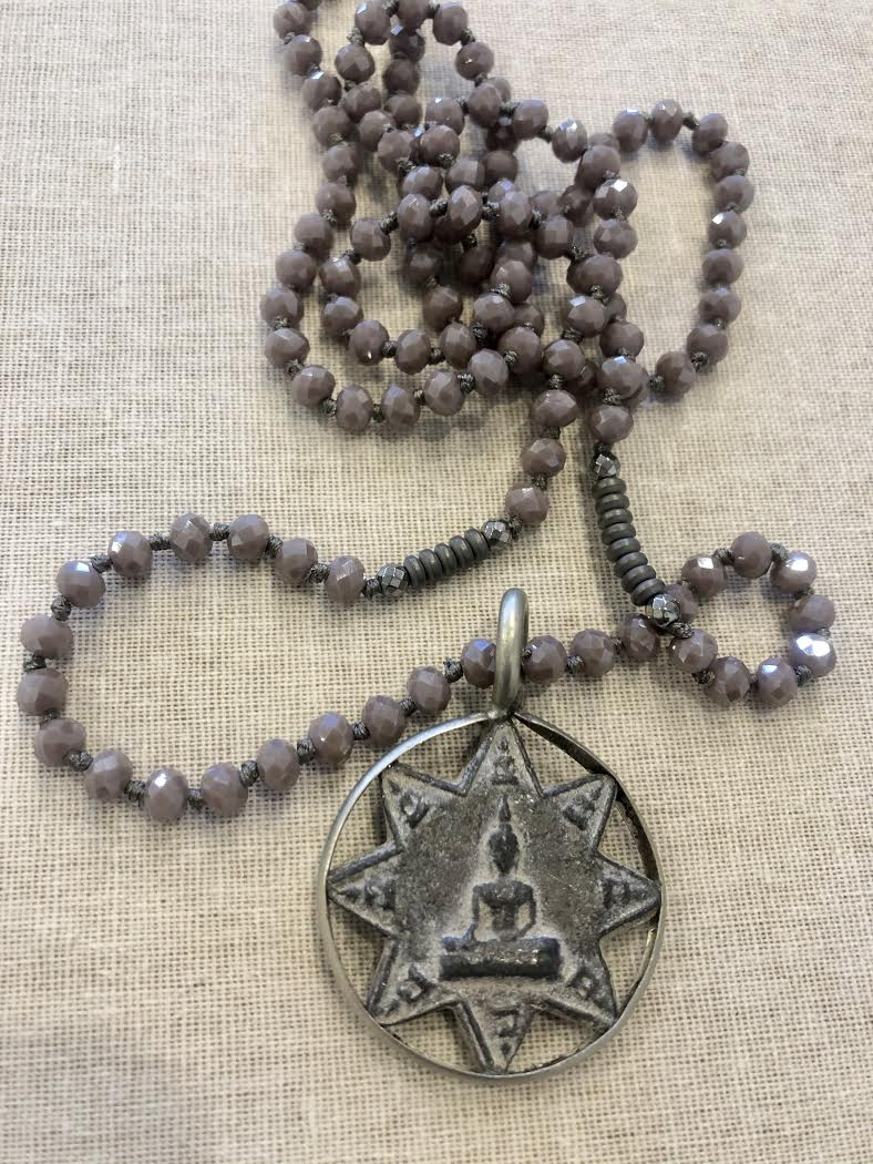 Buddha Star with Hematite Necklace