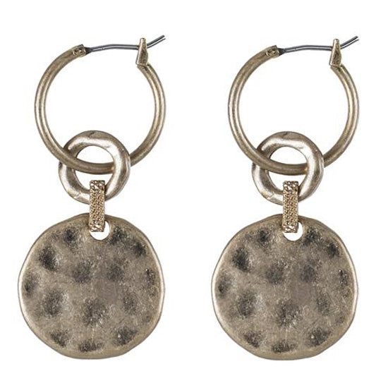 Hoop Disc Earrings