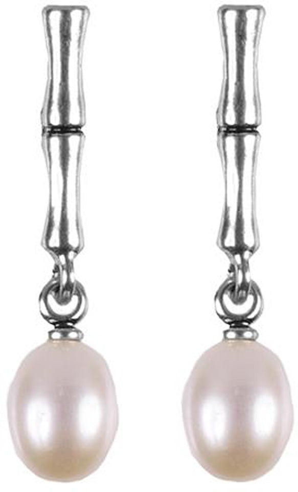 Bamboo Pearl Earrings