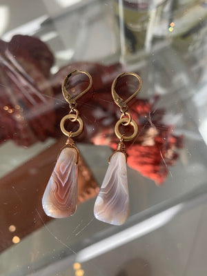 Earth Ambiance Earrings with Golden Ring
