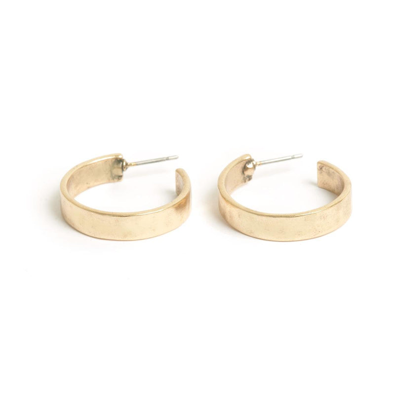 Basic Wide Bronze Hoops
