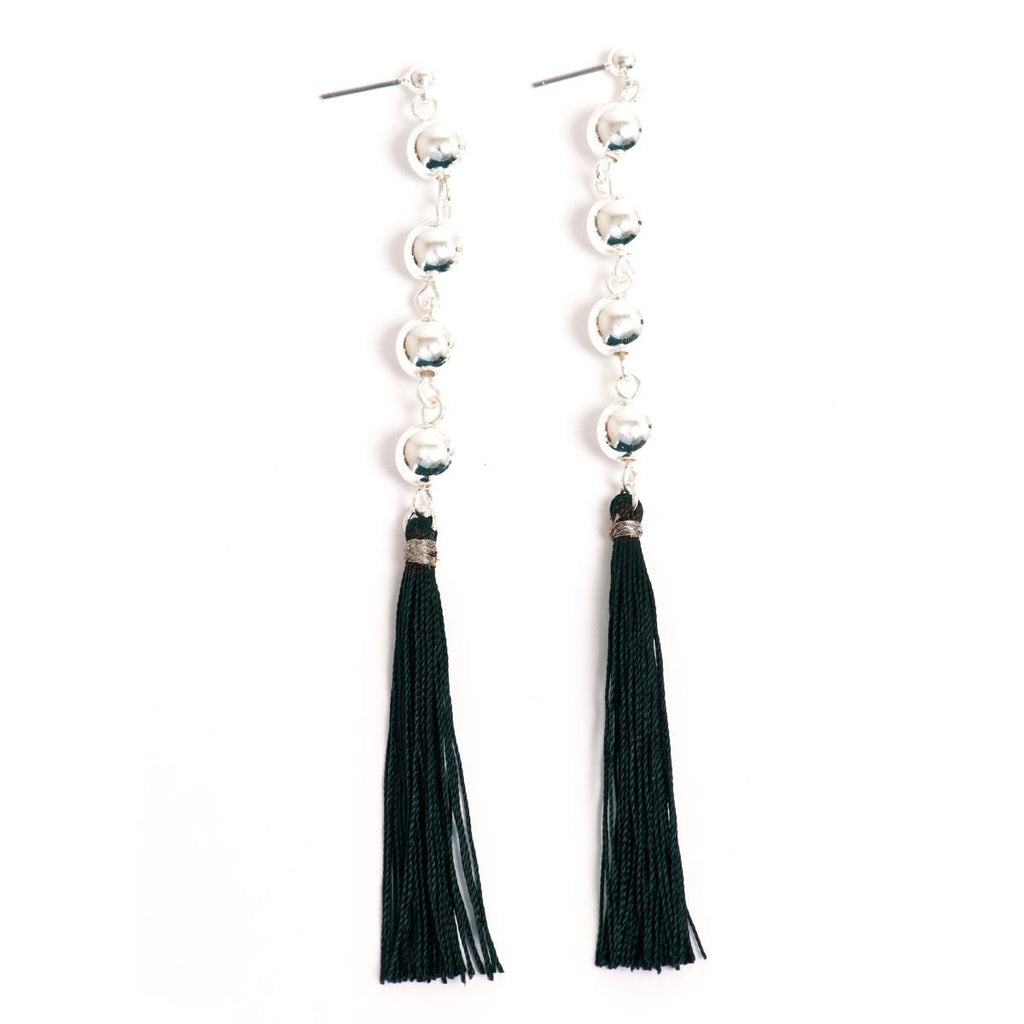Party Tassels Silver Earrings - Final Sale Item