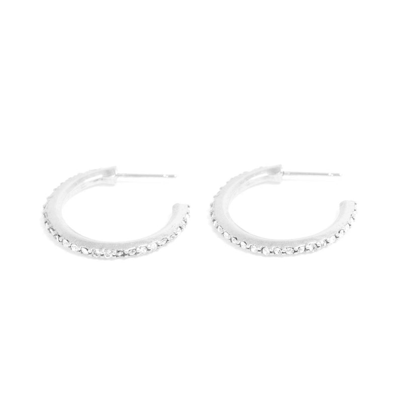 Crystal Hoop Earrings - Large