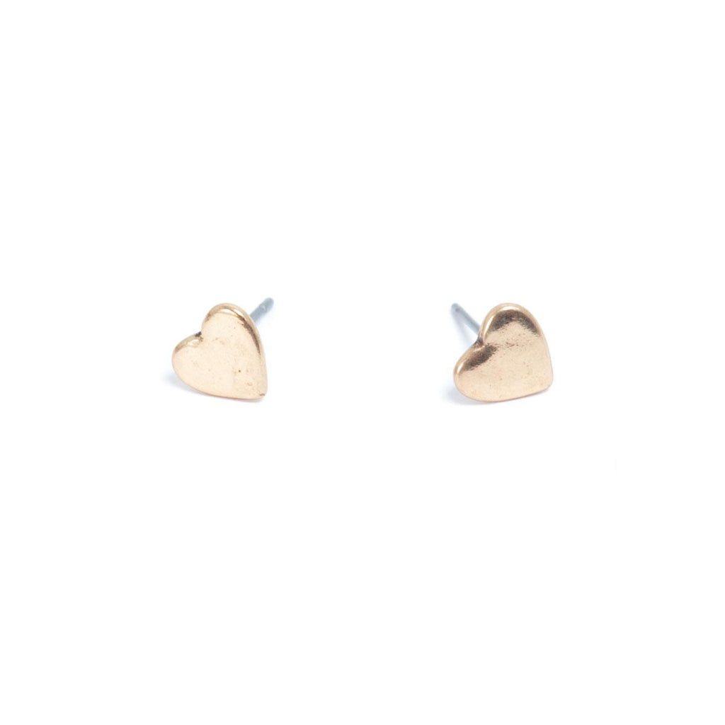 Heart Earrings - Bronze