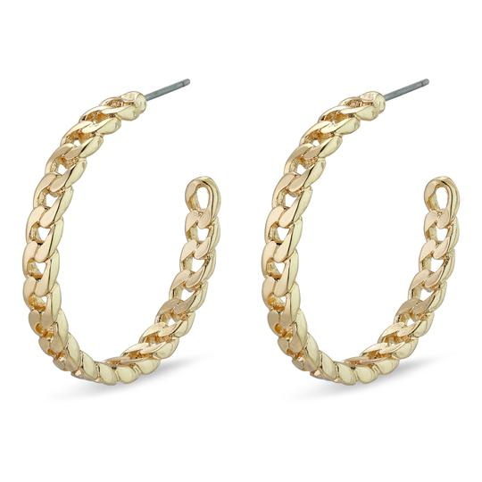 Yggdrasil Gold Large Chain Hoops
