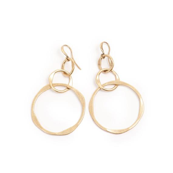Circle Hoops Earrings - Bronze