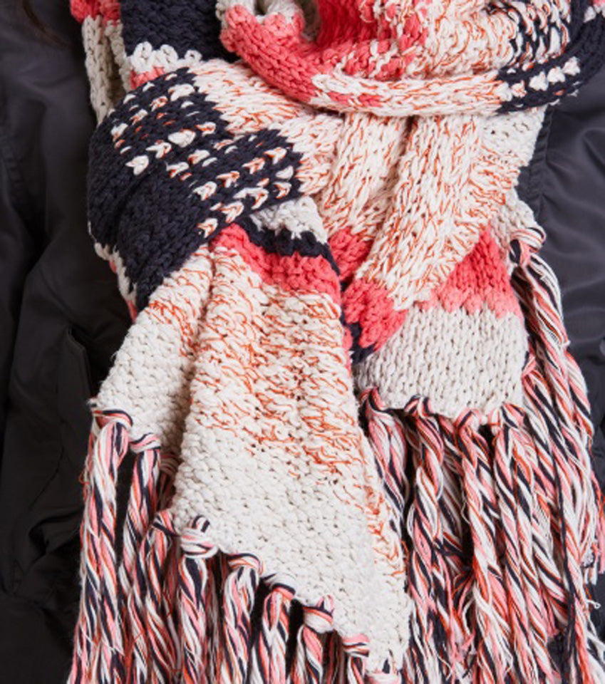Mixed Knit Scarf