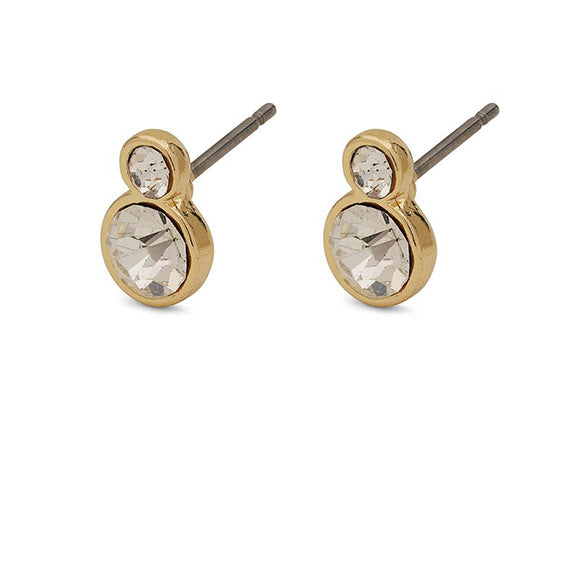 Lia Gold Post Earrings