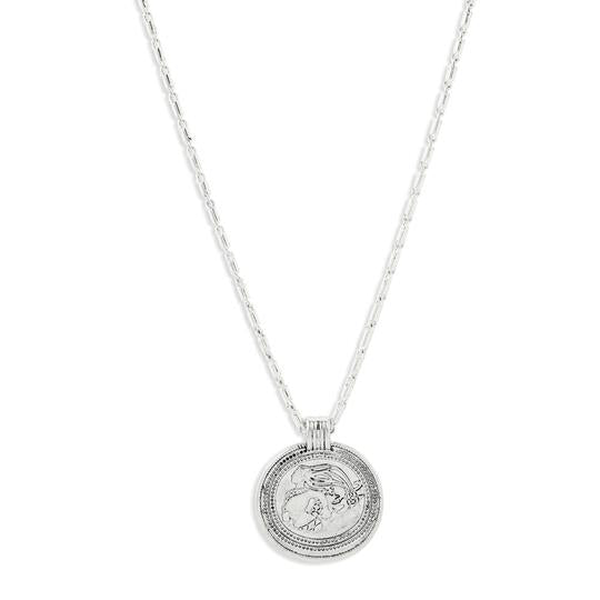 Rán Silver Coin Necklace