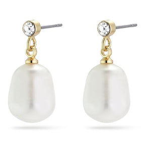 Urd Gold Pearl Earrings