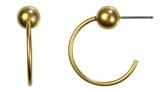 Gold Hoop Earrings - Final Sale Item