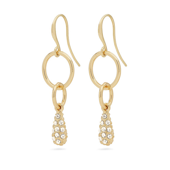 Emery Gold Crystal Drop Earrings