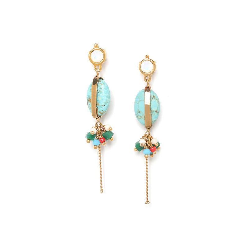 Les Inseparables Crystallized Post Turquoise