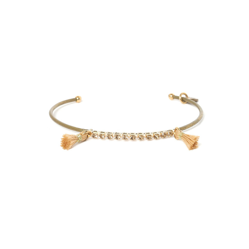 Nina Crystallized Bangle with Tassel