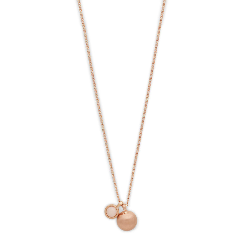 Holly Rose Gold Orb Pendants Necklace - Final Sale Item