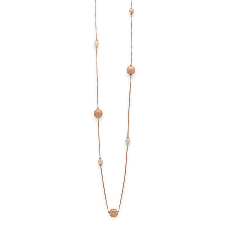Holly Rose Gold Satin Orb Necklace - Final Sale Item