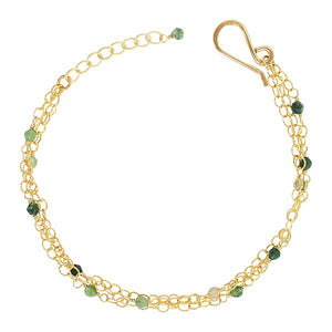 Gemstone Chain Bracelet