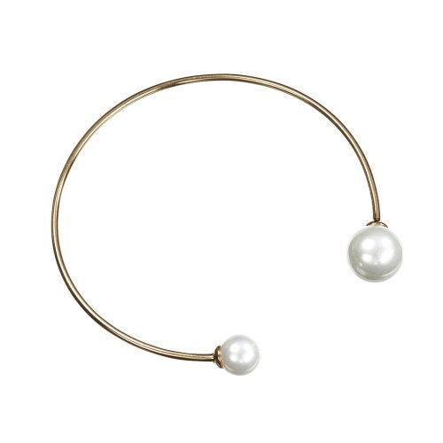 Pearl Eclipse Bangle Bracelet