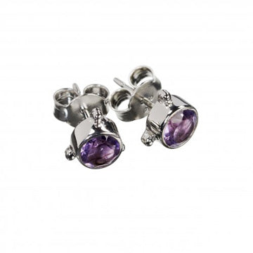 Darling Amethyst Earrings - Silver