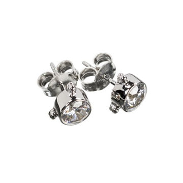 Darling Zircon Earrings - Silver