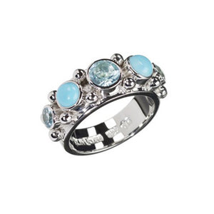 Sweetheart Blue Topaz, Turquoise Ring