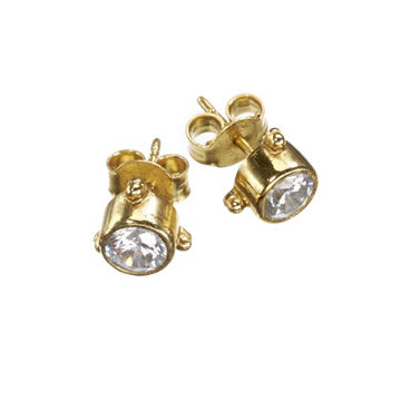 Darling Zircon Gold Earrings