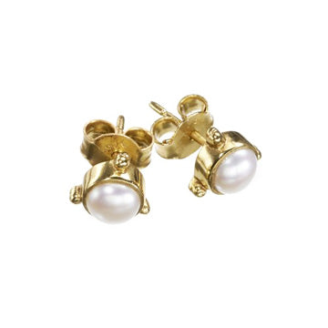 Darling Pearl Gold Earrings