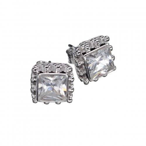 Candy Zircon Silver Earrings